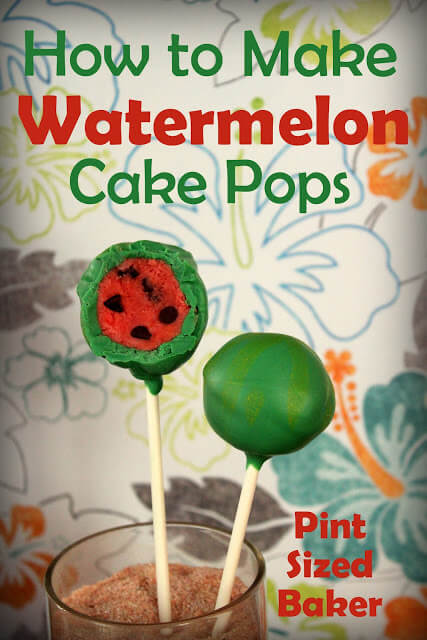 how to make watermelon cake pops pint sized baker. Black Bedroom Furniture Sets. Home Design Ideas