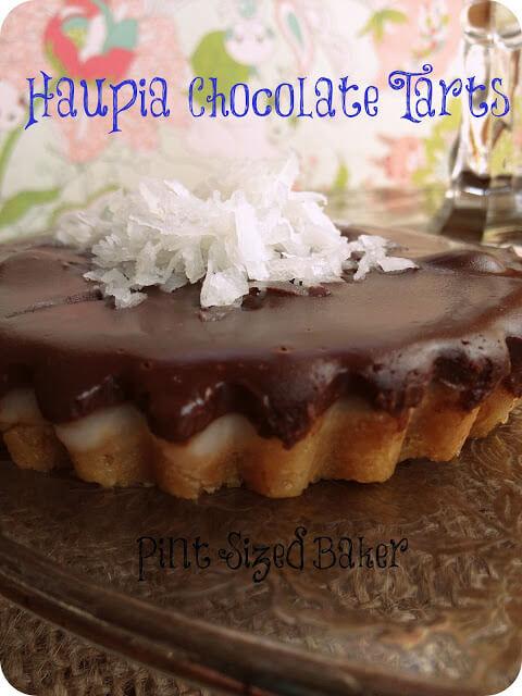 Haupia (Hawaiian Coconut  Dessert) Tarts