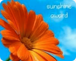 Sunshine Award – Thank You!