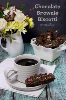Chocolate Brownie Biscotti