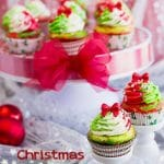 Set up some Christmas Cupcakes for your festive holiday dessert table or bring them into the office for some added cheer!