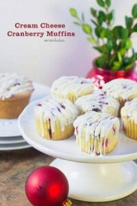 Cream Cheese Cranberry Muffins are the perfect thing to make with a house full of guests this holiday season.