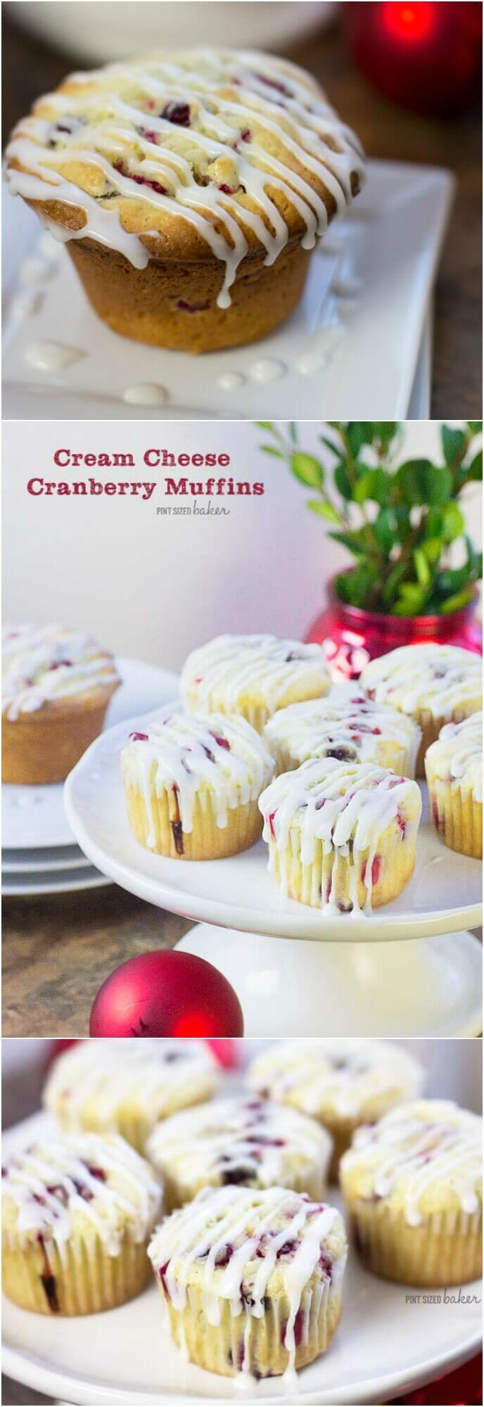 This Cream Cheese Cranberry Muffin recipe is the perfect thing to make with a house full of guests this holiday season. Cozy up with the family and enjoy a muffin and a cup of coffee.