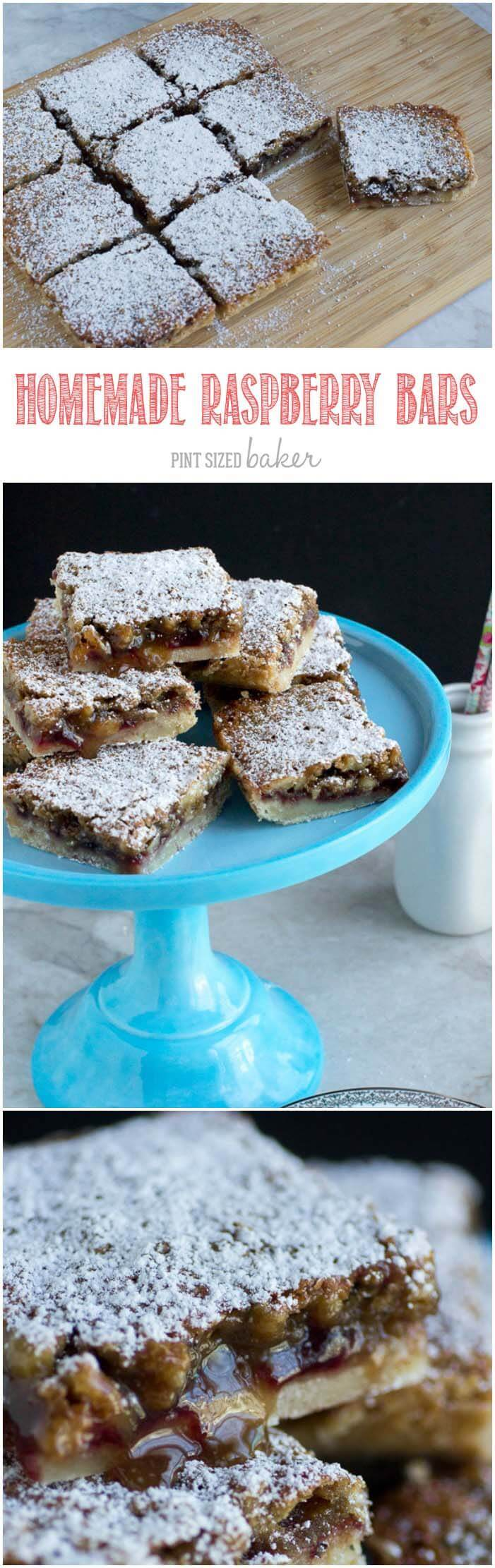 Homemade Walnut Raspberry Bars are the perfect mid-day treat with a cup of tea. Whip them up in under an hour.
