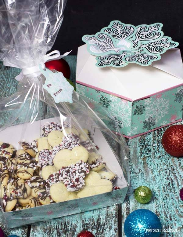 Wrap up your Simple Spritz Christmas Cookies in a decorative box. Wilton has a big selection to choose from.