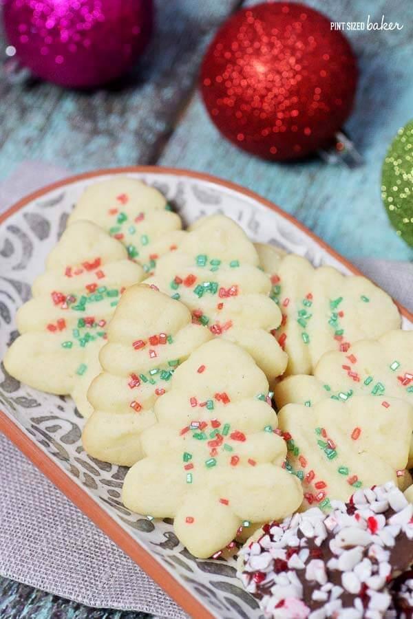 simple spritz christmas cookie recipe