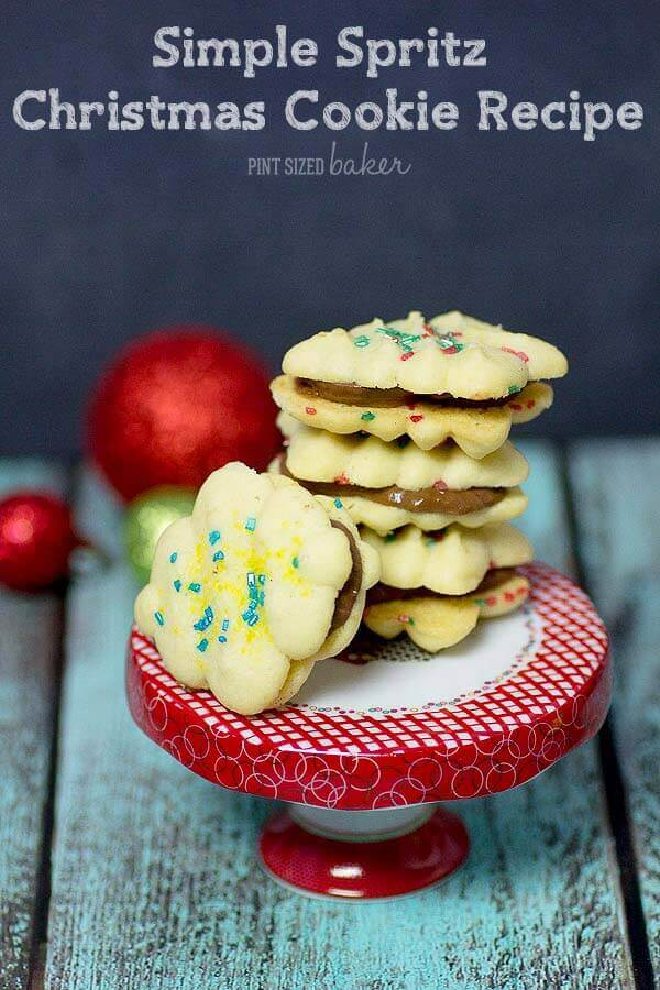 Simple spritz christmas cookie recipe for Easy holiday baking recipes for gifts