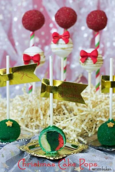 Tri-Colored Christmas Cake Pop Tutorial