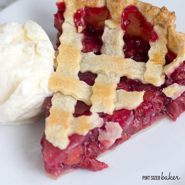 Deep Dish Cherry Pie Tart. So good, so sweet, so easy, and so perfect with a scoop of ice cream.