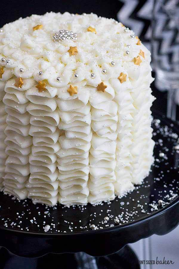 An elegant ruffle cake that is perfectly stunning for my next celebration!