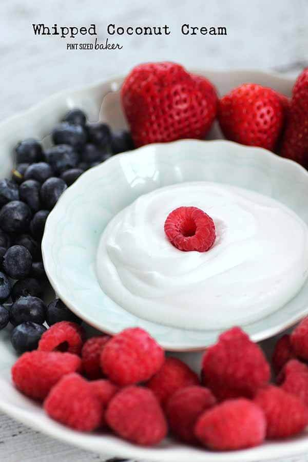 This whipped coconut cream is the perfect whipped cream replacement. My family loves it and I love that it's so healthy for them!