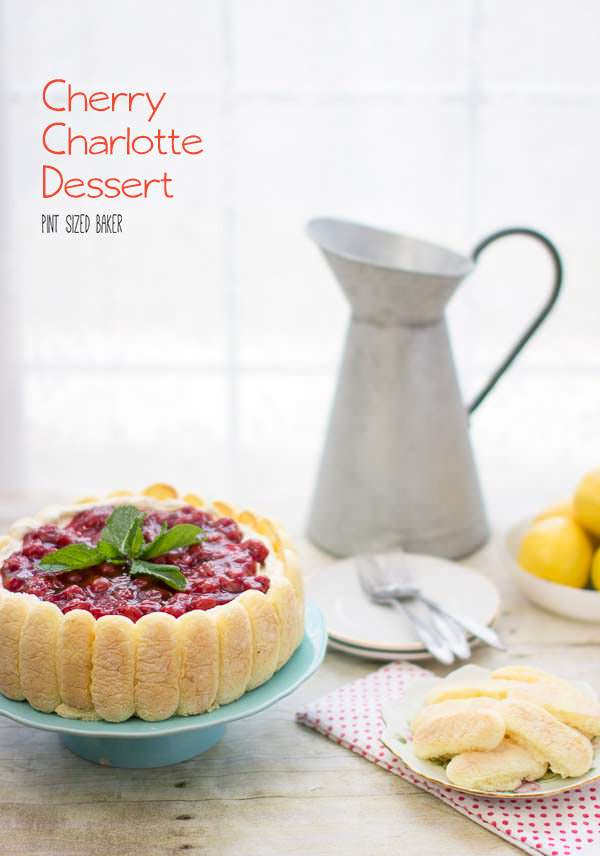 Call all the ladies - I'm serving this quick and easy Cherry Charlotte dessert. There's a video just to show you how easy it is!
