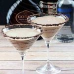Chocolate Martinis - Godiva Chocolate Liquor, Vodka, and Creme de Cocoa with a touch of cream. It's the perfect dessert for adults!