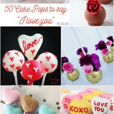 50 Valentine Cake Pops