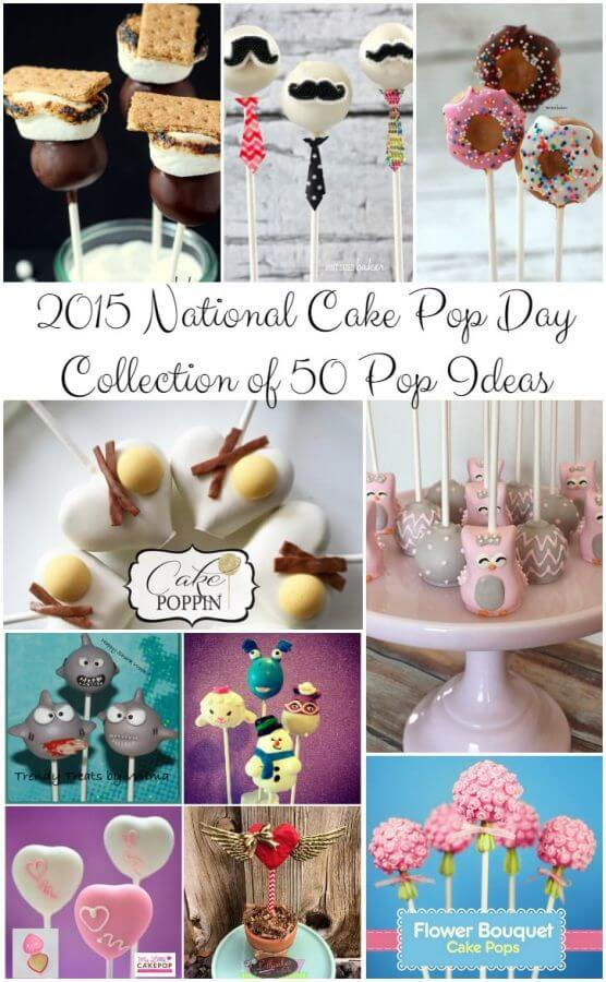 50 Cake Pop Collection for National Cake Pop Day