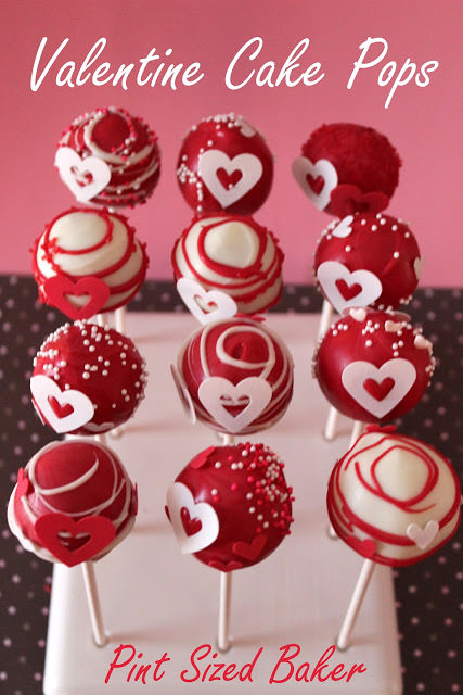 Cake Pop Decorating Ideas Valentines : Valentine Cake Pops