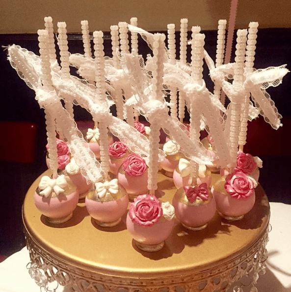 Sweet Violet CAke Pops