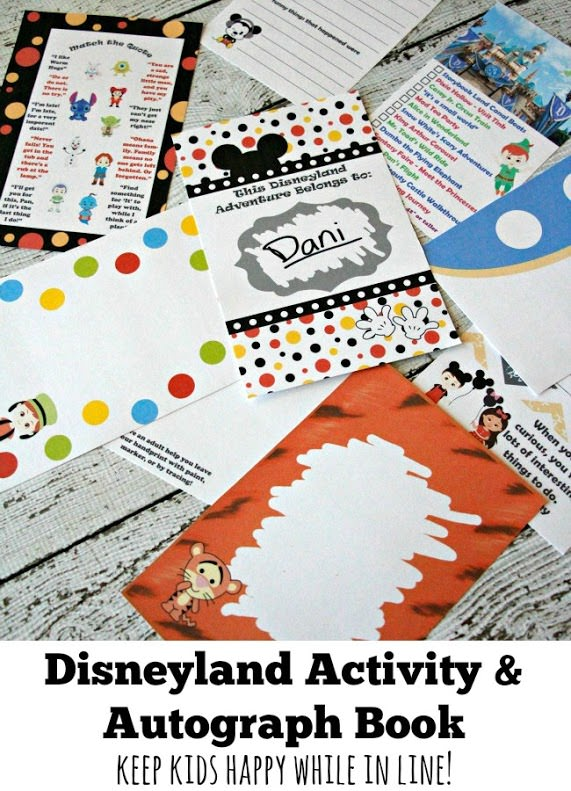 2016 Unofficial Disneyland Activity & Autograph book by BusyMomsHelper