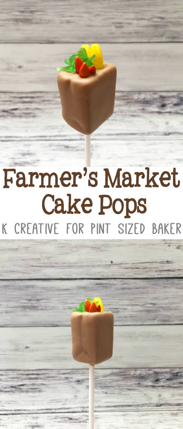 Learn how to make these fun and easy Farmer's Market Cake Pops with this tutorial.