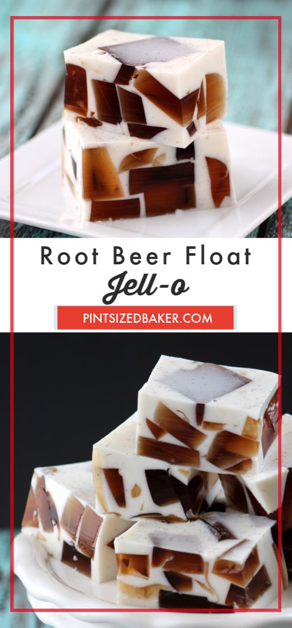 These no-melt Root Beer Float Jello treats are sure to be a summer favorite! All the flavors you love without a huge mess.