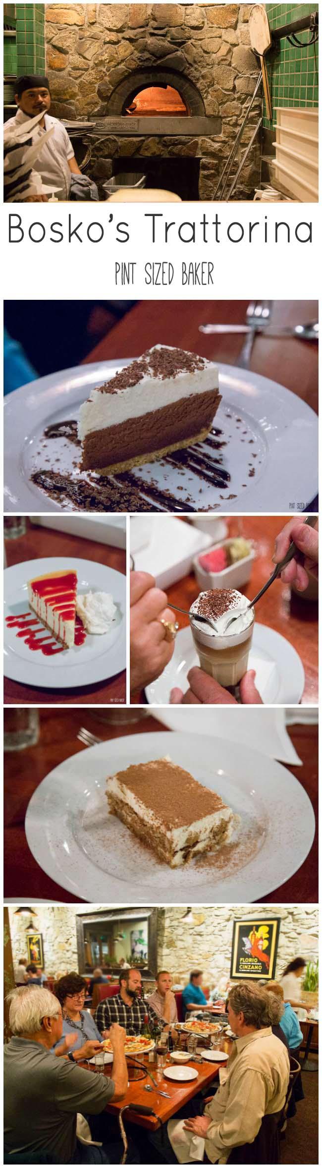 Visit Bosko's Trattorina in Calistoga, California for a great Italian dinner and amazing desserts!