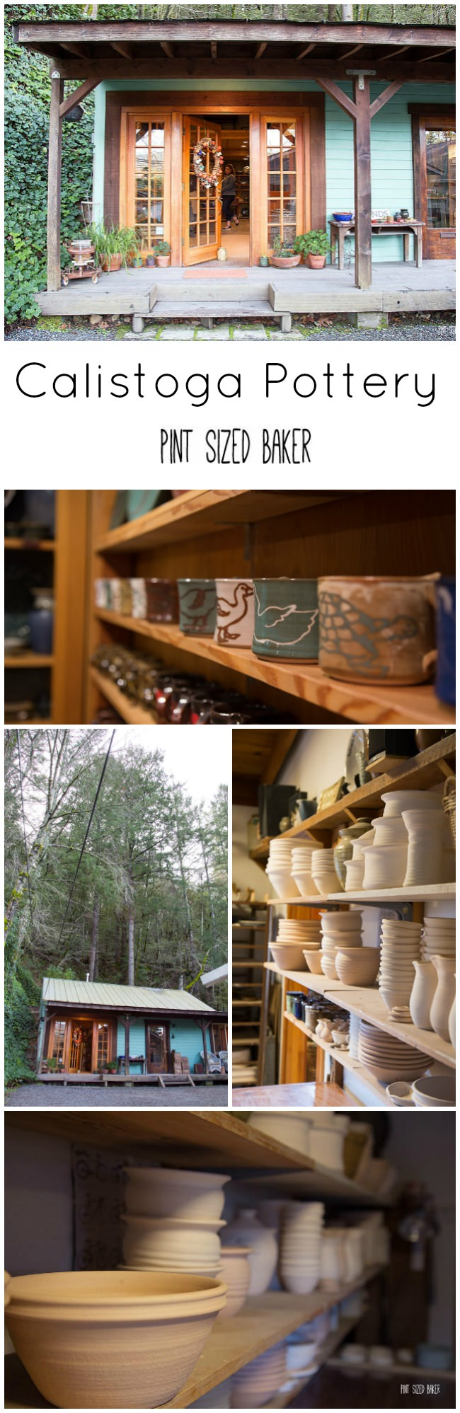 Stop in to the Calistoga Pottery for some one of a kind clay dishes, bowls, and serving trays.