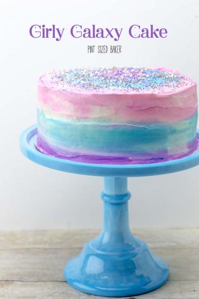 Girly Galaxy Cake Tuorial