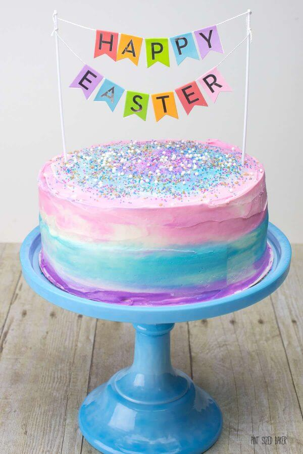 I LOVE this Easter Cake! What a fun dessert to serve for my Easter celebrations. The best part is that it's so easy to do!