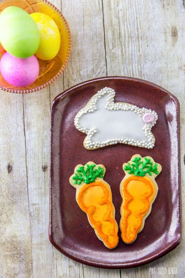 Hippitty Hop! The Easter Bunny is going to love these easy Sugar Cookies. They are so easy to decorate and yummy to eat!
