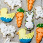 Everyone loved these yummy Easter Sugar Cookies. I loved them because they were done in a day without any special tools!
