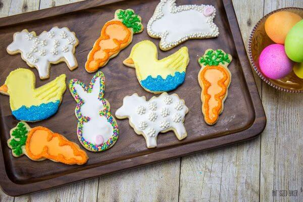 Set out a platter of these easy Easter Sugar Cookies and they'll disappear faster than the candy eggs!