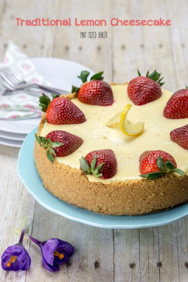 Sweet and tart, this traditional lemon cheesecake is a great dessert for any occasion.