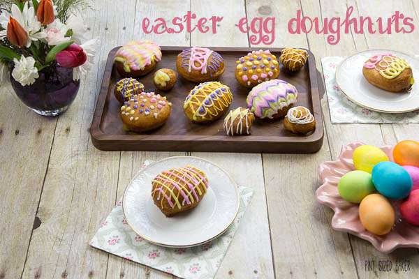 Quick and Easy Easy Egg Doughnuts are filled with a delicious lemon pie filling and decorated by the kids.