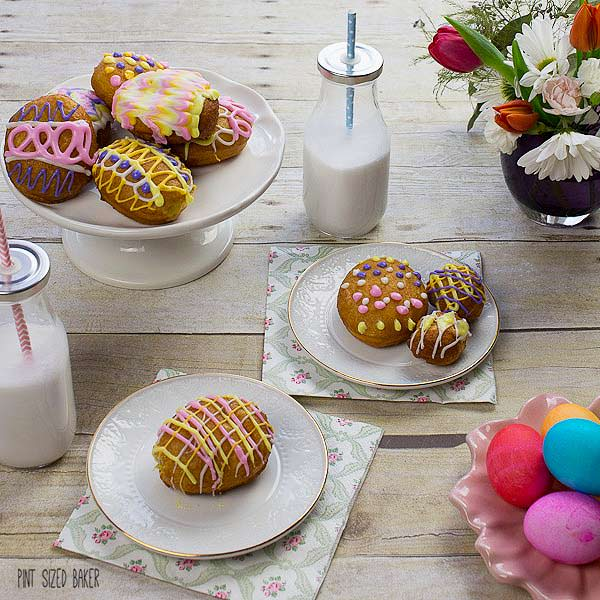 The kids had so much fun decorating these Lemon Jelly Donuts to look like Easter eggs. It's a fun and delicious treat for the family.