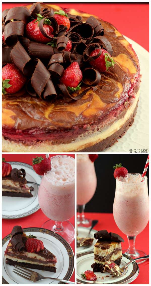 It's strawberry season! Make an amazing Strawberry Brownie Cheesecake and serve an Old Fashioned Strawberry Soda along with it.