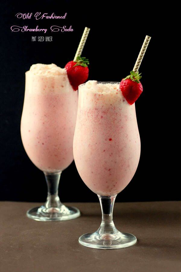 An image linking to my  Old Fashioned Strawberry Soda recipe.