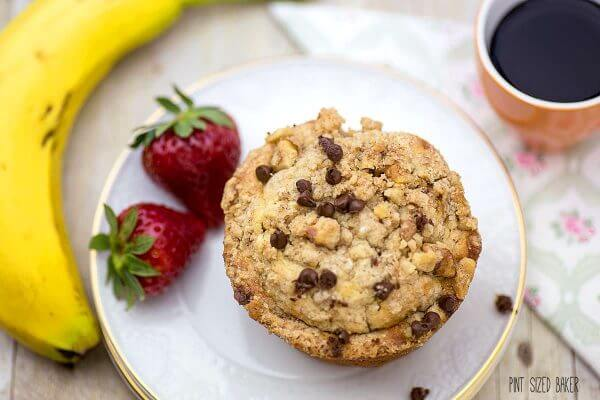 Breakfast is served! Make these Banana Nut Muffins and your family will smile at the breakfast table.