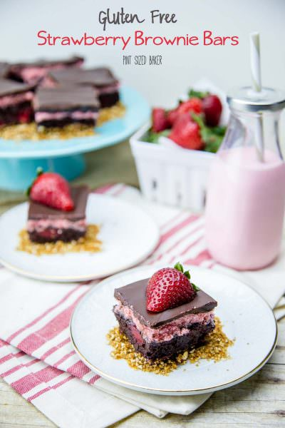 Gluten Free Strawberry Brownie Bars