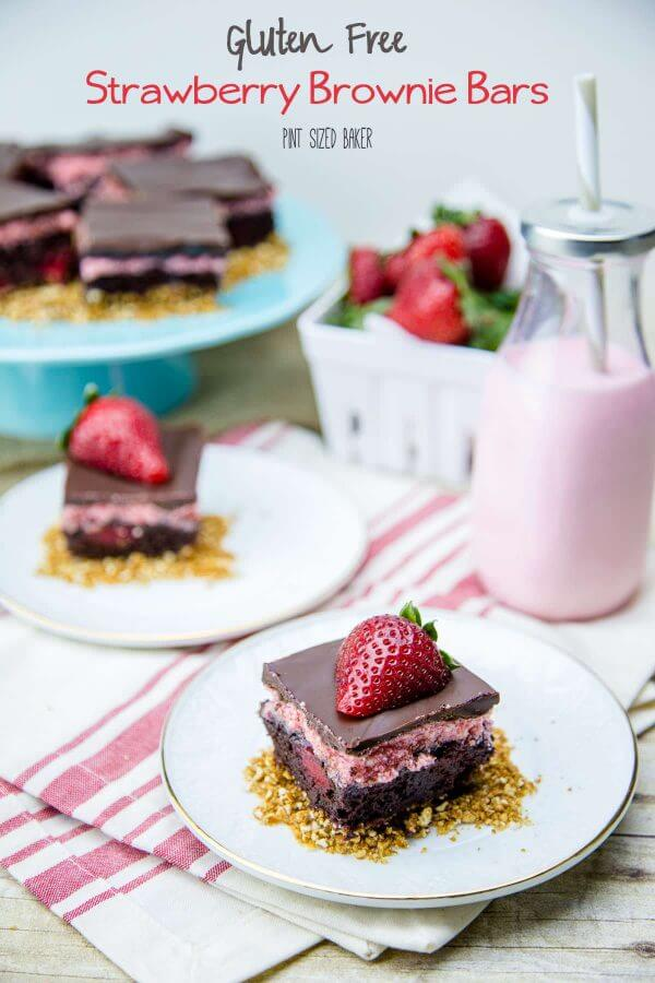 I'm making these easy Gluten Free Strawberry Brownie Bars so that everyone can enjoy some. (They don't have to know they are GF.)