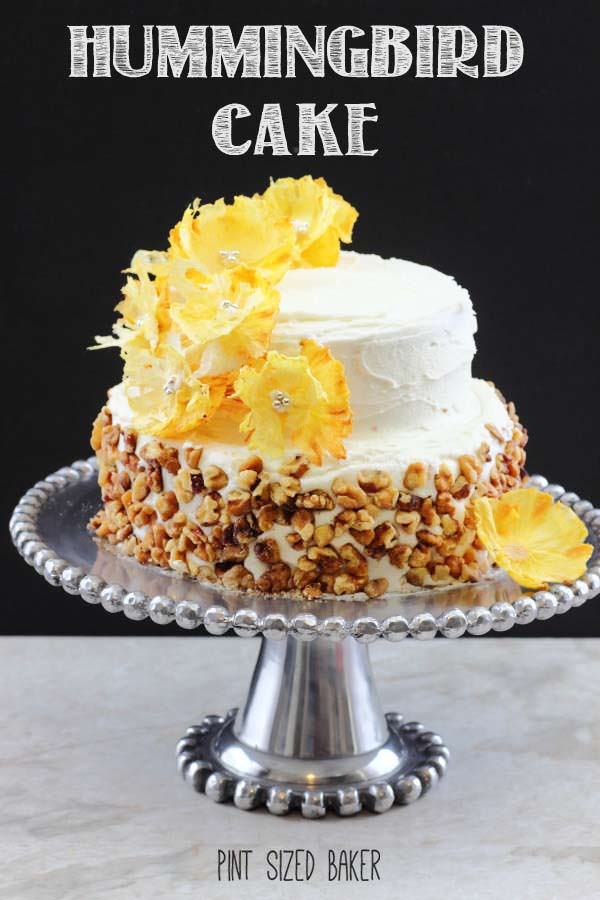 Hummingbird Cake Recipe With Pineapple Flowers Pint Sized Baker