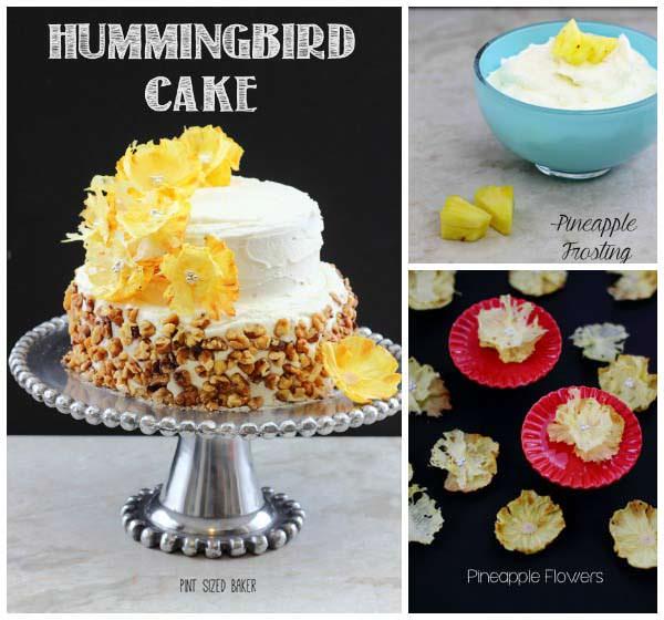 Pleasant Hummingbird Cake Recipe With Pineapple Flowers Pint Sized Baker Funny Birthday Cards Online Necthendildamsfinfo