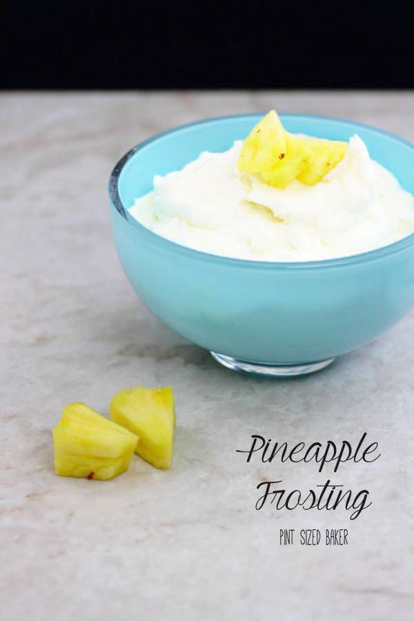 Sweet, homemade pineapple frosting is perfect for so many desserts.