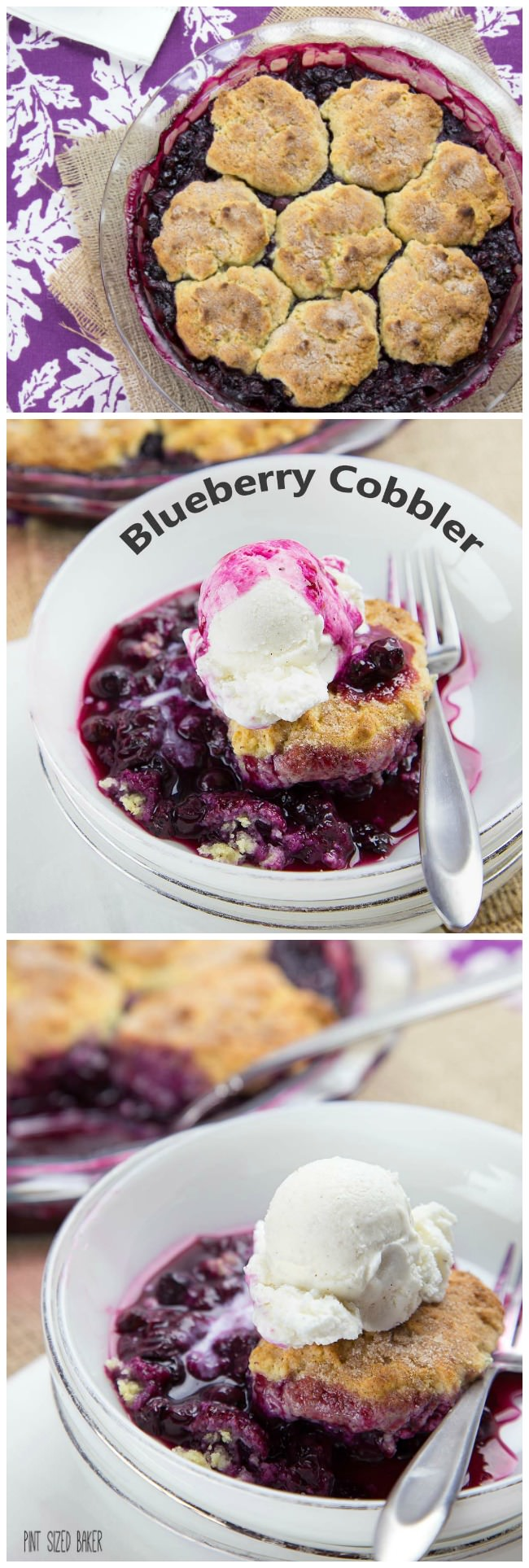 Easy and Delicious - this one pan blueberry cobbler will have you coming back for more!