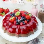 Bring back the popular Jello Mold for your summer PARTY! This Strawberry and Chocolate Jello Mold is beautiful to serve to your guests.