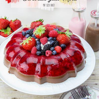 Strawberry and Chocolate Jello Mold