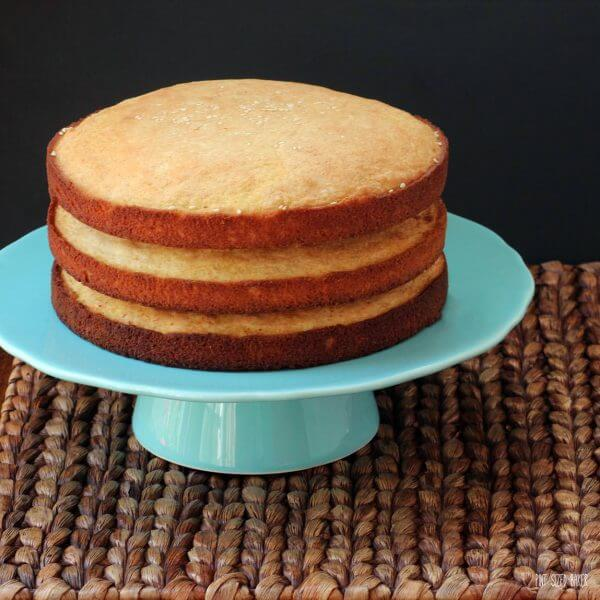 Basic Yellow Cake Recipe. It's just waiting for some chocolate frosting and some birthday candles!