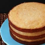 Easy and delicious 3 layer yellow cake recipe. The perfect Birthday cake recipe!