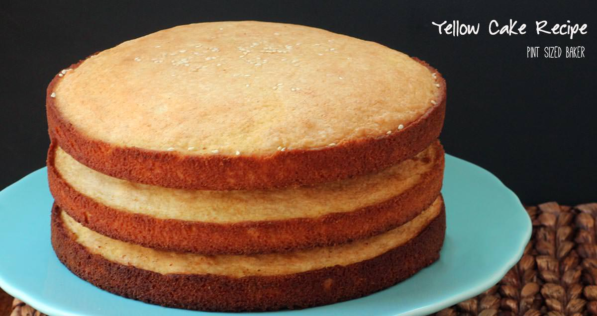 One Layer Yellow Cake Recipe Scratch