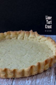 Lime Tart Crust Recipe - A touch of lime zest add a pop of citrus flavor into this classic crust recipe.