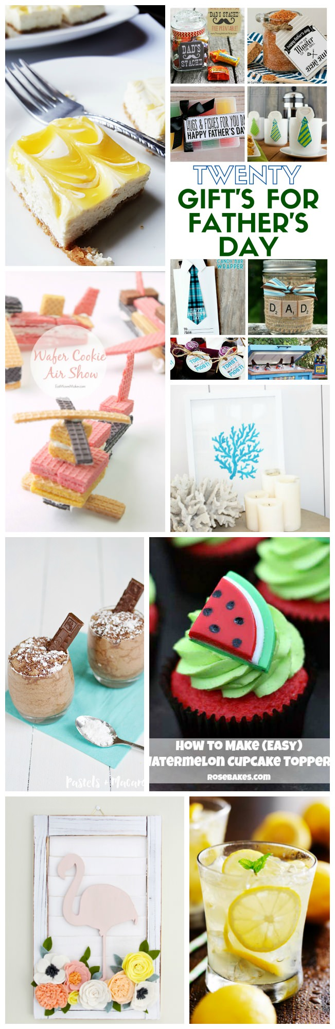 School's out for Summer! It's time for Dad's and Grads with these June Treats and Crafts that you can enjoy during your down time.
